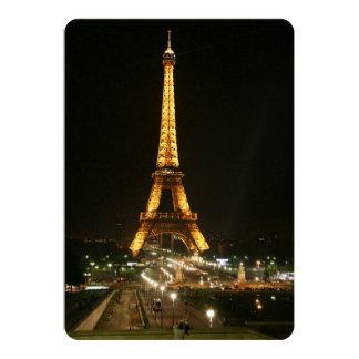 Torre Eiffel, París Invitación 12,7 X 17,8 Cm