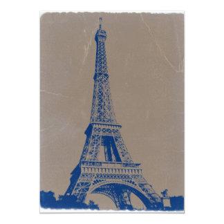 Torre Eiffel París Invitación 12,7 X 17,8 Cm