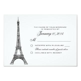 Torre Eiffel parisiense que casa el personalizado Invitación 8,9 X 12,7 Cm