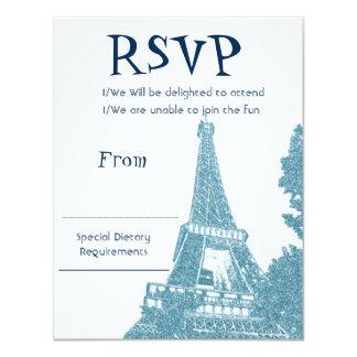 Torre Eiffel RSVP Invitación 10,8 X 13,9 Cm