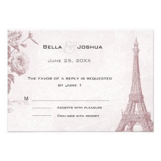 Torre Eiffel subió vintage RSVP del color Comunicados Personales