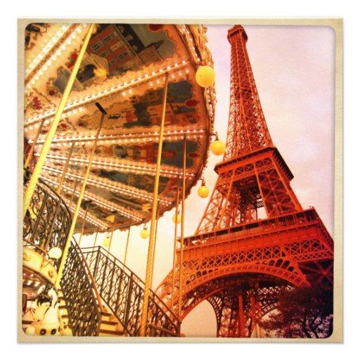 Torre Eiffel y carrusel Anuncio Personalizado