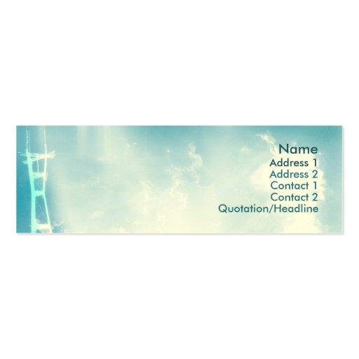 Torre - flaca plantilla de tarjeta de negocio