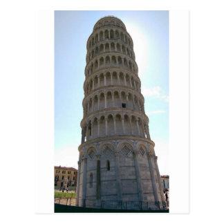 Torre inclinada de la postal de Pisa