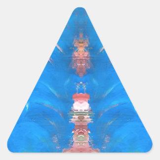 torre pegatina triangular