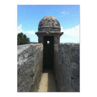 Torrecilla de Castillo de San Marcos, St Invitación 12,7 X 17,8 Cm