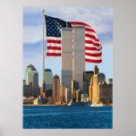 Torres gemelas americanas póster