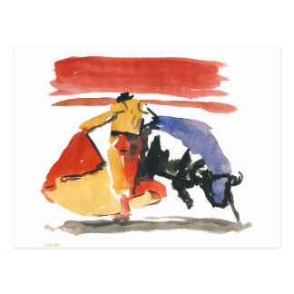 torro y torrero postal