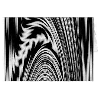Torsión abstracta blanco y negro tarjeta de felicitación