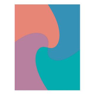 torsión en colores pastel postal