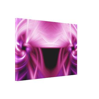 Torsión rosada lienzo envuelto para galerías