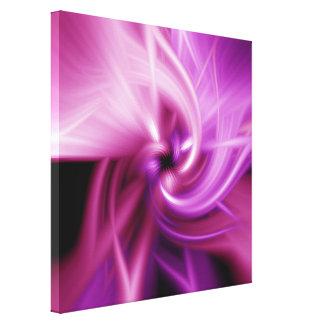 Torsión rosada impresión en lienzo estirada