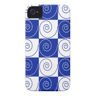 Torsiones azules de la cola del ratón funda para iPhone 4 de Case-Mate