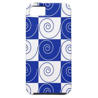 Torsiones azules de la cola del ratón funda para iPhone SE/5/5s
