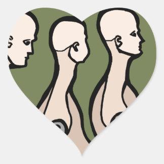 Torsos del maniquí pegatina en forma de corazón