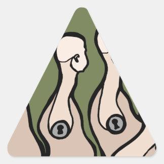 Torsos del maniquí pegatina triangular