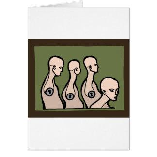 Torsos del maniquí tarjeta