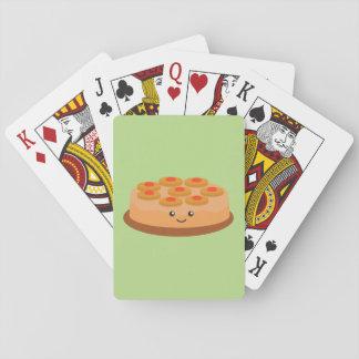 Torta al revés de la piña baraja de póquer