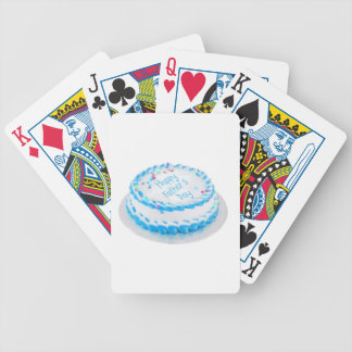 Torta celebradora feliz del día de padre barajas de cartas