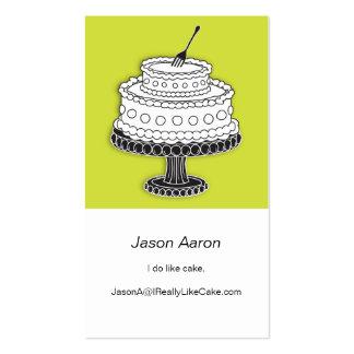 ¡Torta con la bifurcación lista! Tarjetas De Visita