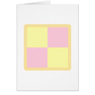 Torta de Battenburg. Rosa y amarillo Tarjeta De Felicitación