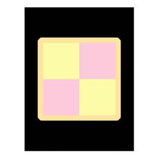 Torta de Battenburg. Rosa y amarillo Tarjetas Postales