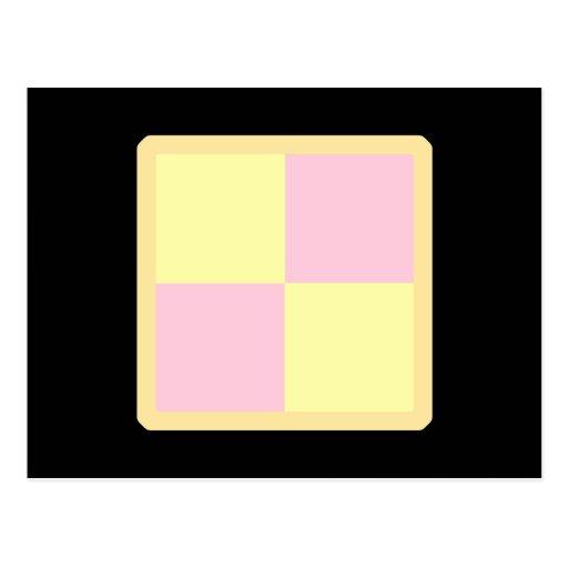 Torta de Battenburg. Rosa y amarillo Tarjeta Postal