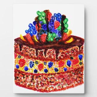 Torta de chocolate 2 placa expositora