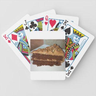 Torta de chocolate baraja de cartas bicycle