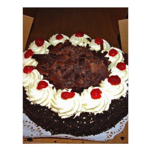 Torta de chocolate con crema flyer personalizado