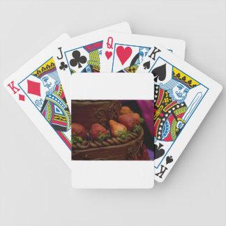 Torta de chocolate de la fresa cartas de juego