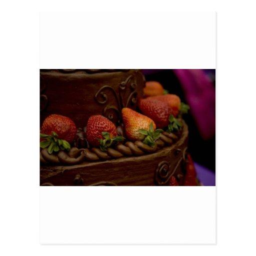 Torta de chocolate de la fresa postales