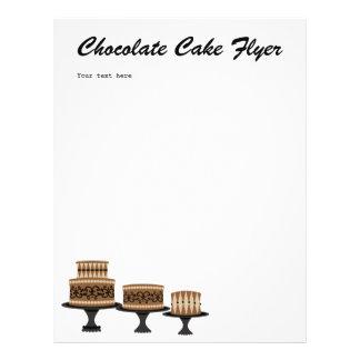 torta de chocolate decadente tarjetas informativas