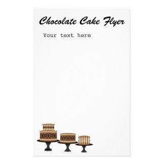 torta de chocolate decadente folleto 14 x 21,6 cm