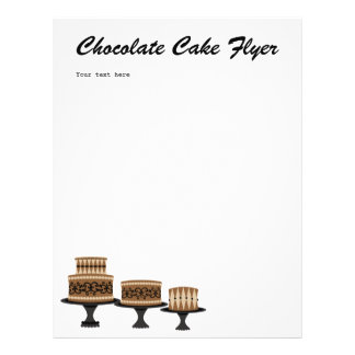 torta de chocolate decadente folleto 21,6 x 28 cm
