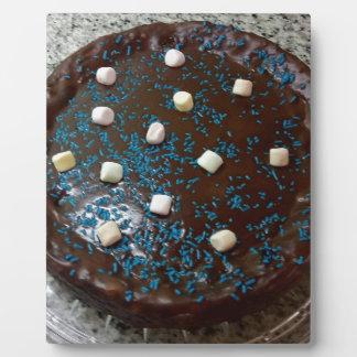 Torta de chocolate placa expositora
