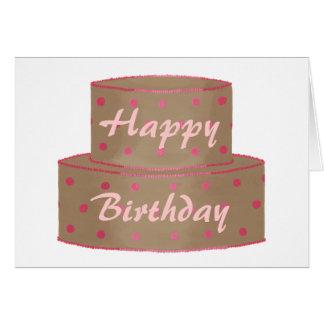Torta de chocolate, tarjetas del feliz cumpleaños