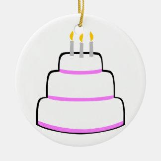 Torta de cumpleaños adornos