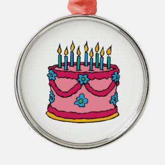 Torta de cumpleaños adornos de navidad