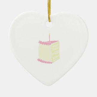 Torta de cumpleaños adorno de cerámica en forma de corazón
