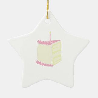 Torta de cumpleaños adorno de cerámica en forma de estrella