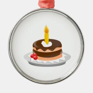 Torta de cumpleaños ornamento de navidad