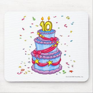 Torta de cumpleaños alfombrilla de ratón