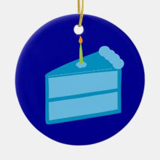 Torta de cumpleaños azul adornos
