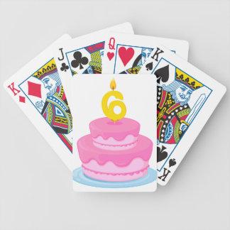 torta de cumpleaños barajas de cartas