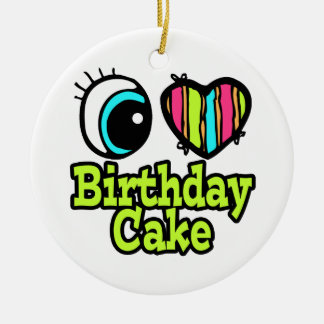 Torta de cumpleaños brillante del amor del corazón ornato