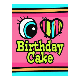 Torta de cumpleaños brillante del amor del corazón tarjetas informativas