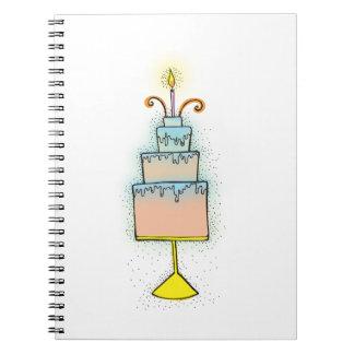 Torta de CUMPLEAÑOS con las velas twirly rizadas Libros De Apuntes