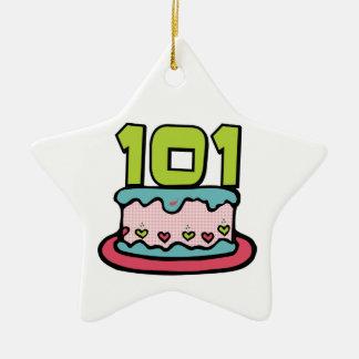 Torta de cumpleaños de 101 años ornamento para reyes magos