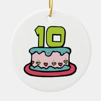 Torta de cumpleaños de 10 años ornamentos de reyes magos